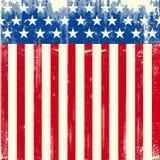 Bandiera sporca quadrata americana Fotografie Stock