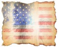 Bandiera stagionata di U.S.A. Immagini Stock