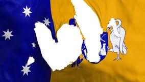 Bandiera stracciata di Canberra illustrazione di stock