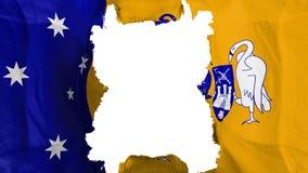 Bandiera strappata di volo di Canberra illustrazione di stock