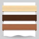 Bandiera strutturata di legno di Web site Fotografie Stock