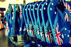 Bandiera sui piedi Immagine Stock