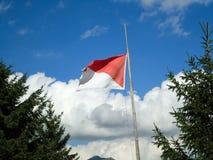 Bandiera sul cielo Immagine Stock