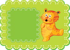 Bandiera sveglia della tigre Immagini Stock