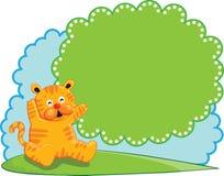 Bandiera sveglia della tigre Fotografie Stock