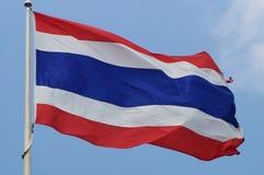 Bandiera tailandese Fotografia Stock Libera da Diritti