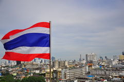 Bandiera tailandese Fotografia Stock
