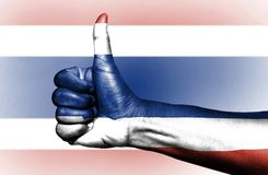 Bandiera tailandese fotografie stock libere da diritti