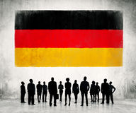 Bandiera tedesca Fotografia Stock