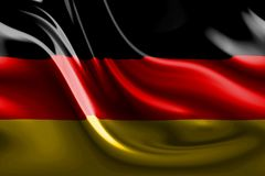 Bandiera tedesca astratta Fotografie Stock Libere da Diritti