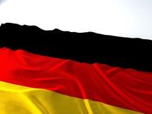 Bandiera tedesca d'ondeggiamento Fotografia Stock Libera da Diritti