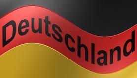 Bandiera tedesca, illustrazione Immagini Stock