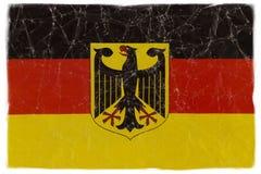 Bandiera tedesca su bianco Immagini Stock Libere da Diritti