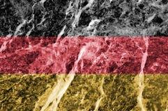 Bandiera tedesca su struttura di marmo Fotografia Stock
