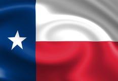Bandiera texana Fotografia Stock