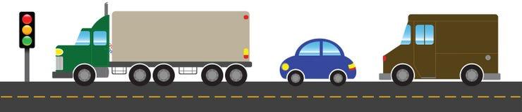 Bandiera trasporto/di traffico Illustrazione Vettoriale