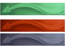 Bandiera tre Immagine Stock