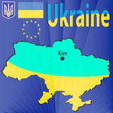 Bandiera ucraina Immagine Stock