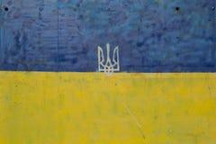 Bandiera ucraina Immagini Stock Libere da Diritti
