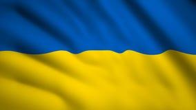 Bandiera ucraina Video del movimento che sventola a vento Flag Closeup 1080p illustrazione vettoriale