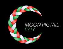 Bandiera variopinta dell'Italia della treccia Vettore ondulato riccio illustrazione di stock