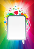 Bandiera variopinta di amore Fotografia Stock