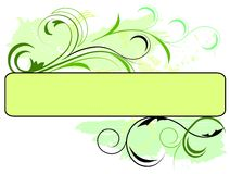 Bandiera verde floreale Immagine Stock Libera da Diritti