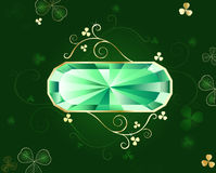 Bandiera verde smeraldo illustrazione di stock
