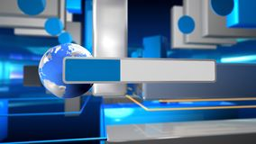 Bandiera virtuale illustrazione di stock