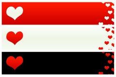 Bandiere 1 del biglietto di S. Valentino del san Immagine Stock