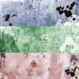 Bandiere 10 di Grunge Fotografia Stock Libera da Diritti