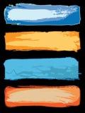 Bandiere afflitte di Web Immagini Stock