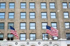 Bandiere americane Immagine Stock