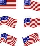 Bandiere americane Fotografie Stock