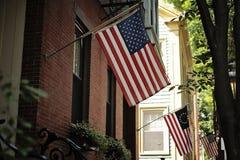 Bandiere americane Fotografie Stock Libere da Diritti