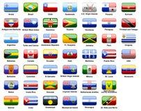 Bandiere americane dei paesi Fotografia Stock Libera da Diritti