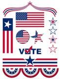 Bandiere americane e simboli Fotografia Stock Libera da Diritti