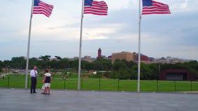 Bandiere americane in Washington DC video d archivio