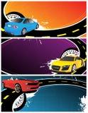 Bandiere astratte con le automobili Fotografia Stock