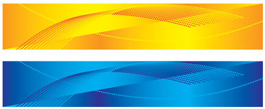 Bandiere astratte gialle e blu Fotografia Stock