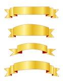 Bandiere/bandiera dell'oro Fotografia Stock