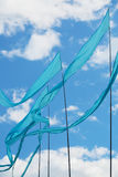 Bandiere blu Immagini Stock Libere da Diritti