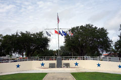 Bandiere che volano ad un parco patriottico Fotografie Stock