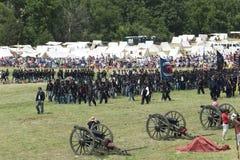 Bandiere che volano a Gettysburg fotografia stock