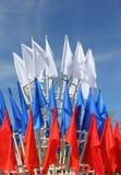 Bandiere colorate Fotografia Stock Libera da Diritti