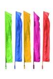 Bandiere colorate Fotografia Stock