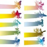 Bandiere con la siluetta animale Fotografia Stock Libera da Diritti