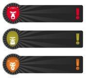 Bandiere con la testa animale Immagini Stock Libere da Diritti