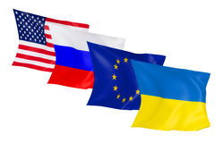 Bandiere d'ondeggiamento Fotografie Stock