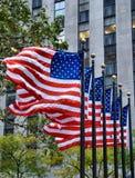 Bandiere d'ondeggiamento Fotografia Stock